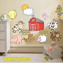 Adesivo Animais Fazendinha Vaca Porco Pato Coelho Wpt050