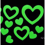 Adesivo Fluorescente Neon Coração Amor Estrela