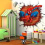 Adesivo Para Parede Em 3d - Homem Aranha - Papel De Parede