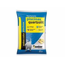 Rejuntamento Piscinas Quartzolit 5 Kg Branco - 2 Unidades
