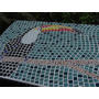Mesa Pastilhas Mosaico 1 Metro Por 0,70cm