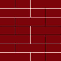 Pastilha De Parede Tijolinhos Vermelha (caixa Com 4 Placas)