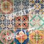 Pastilhas Adesivas Resina - 12 Placas Ladrilho Colorido Foto