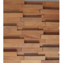 Mosaico Madeira Flt Garapeira Liso-pastilhas - 30cm X 30cm