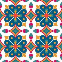 Adesivo Parede Ladrilho Faixa Azulejo Português - Kit 6 Un