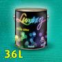 Verniz C/ Glitter Paredes 3,6 L Luminuz Cromanil- Verde