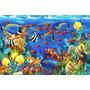 Painel Decorativo Festa Infantil Fundo Do Mar Oceano (mod4)