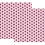 Kit C/ 20mts De Papel Contact Decorativo Poas Marrom Rosa
