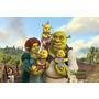 Painel Decorativo Festa Infantil Shrek Fiona Burro (mod1)
