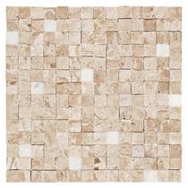 Mosaico De Marmore Travertino - Pastilha Bizantina Acetinada