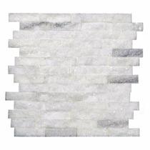 Mosaico De Mármore Acetinado Branco - Canjiquinha Tijolinho