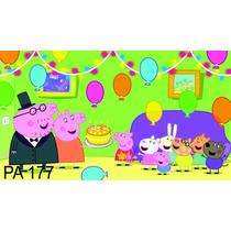Painel Para Festas. Lona Banner Peppa Pig