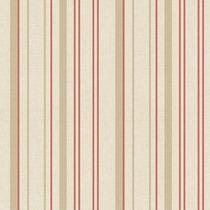 Papel De Parede - Listras Vermelho E Bege (10 Metros X 52cm)