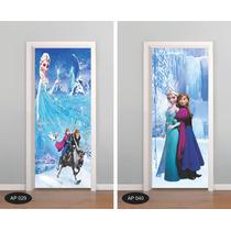 Adesivo Para Porta Frozen Rapunzel Peppa