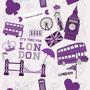 Papel De Parede London Lilás Londres