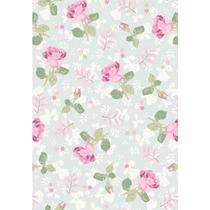 Papel De Parede Floral Rosas 59 Contact
