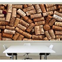 Adesivo Revestimento De Parede Rolhas Cozinha Bar Vinho M11