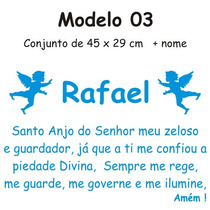 Adesivo Infantil Decorativo Oração Do Santo Anjo Parede 03