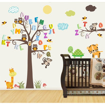 Adesivo Papel Parede Infantil Macaco Safari Animais Zoo M99