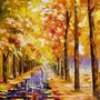 Leonid Afremov Foto P/ Quadro 65cmx65cm Obra Amarelo No Amor