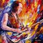 Poster Afremov Rock Hd 70cmx70cm Obra Kirk Hammett Metallica