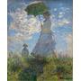 Foto P/ Quadro Claude Monet 90cmx111cm Mulher Com Guarda-sol