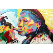 Poster Foto Grafite 60cmx90cm India Tribo Decoração Parede