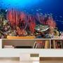 Adesivo Peixe Aquário Decoração Painel Fundo Do Mar Mod08