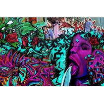 Grafite Painel Foto 60x90cm Poster Arte Na Parede Decoração