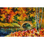 Foto P/ Quadro Tela Fall Bridge 90x135cm Obra Leonid Afremov