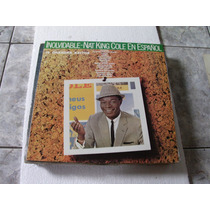 Lp Nat King Cole En Espanol Inolvidable - 1958/1959