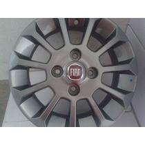 Roda Aro 13 Fiat Uno Top 4x98 Prata/ Grafite *promoção*