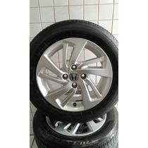 Roda Honda Fit Com Pneu Bridgestone