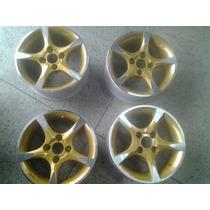 Roda Aro 14 Scorro S171 Diamantada Com Bronze 4x100 Jogo