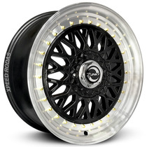 Roda Bbs - Aro 15 - 4x100/108 - Black Diamond Zunky Zk370