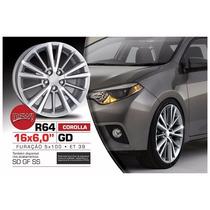 Roda Aro 16 Toyota Corolla 2016 Grafite Diamantada 5x100 R64