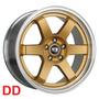 Roda K57 Aro 17x8,0 4x100 Dourada Clio Uno Hb20 Stillo Gol
