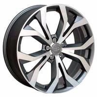Roda Aro 17 Audi Rs6 4 E 5 Furos - Grafite Diamantada - R35