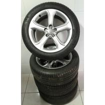 Roda Audi A4 A5 Com Pneus Michelin, Roda Com Riscos