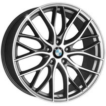 Roda Aro 17 Bmw 335i Biturbo - Grafite Diamantada 5x120