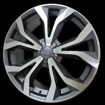 Jogo De Rodas Réplica Krmai R35 17 Audi V Grafite Diamantado
