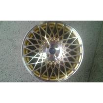 Roda Aro 17 Envy Hotform Bbs Diamantada Com Dourado 7.5 Jogo