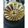 Roda Dourada Aro 17 Diamantada Fosca Furação 4x100 Scorro