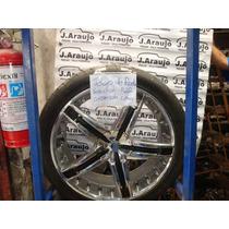 Roda Vera Cruz Aro 22 Cromada 3 Pneus Bons E 1 Ruim