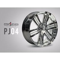 Jogo De Rodas Presenza Wheels Pj04 Cromada Original