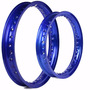 Par De Aro Colorido Para Moto Biz Ks Es + Pop 100 - Azul