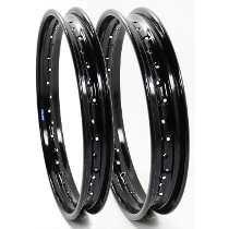 Aro Aluminio Preto Par 2,50 X18 E 2,15x18 Cg Titan Ybr Mix