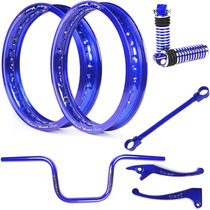 Kit Viper Aro Motard Azul E Acessórios Para Titan 150 Ex