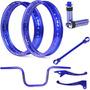 Kit Viper Aros Motard E Acessórios Azul Para Fan 150 Esdi