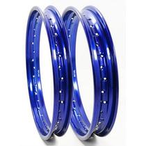 Aro Roda Lander,tenere 215 X 18 + 185 X 21 Diant + Tras Azul